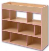 Bibliothèque rangement livres - L 1400 mm x H 1200 mm x P 600 mm