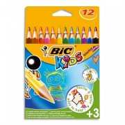 BIC Atui de 12 crayons TRIANGLE EVOLUTION - Bic Kids