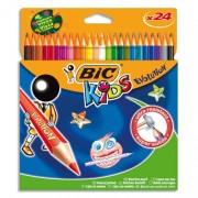 BIC Etuis carton de 24 crayons de couleur 17,5cm assortis EVOLUTION - Bic Kids