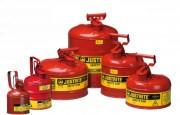 Bidons de sécurité acier pour liquides inflammables - Capacité : de 1 à 19 L