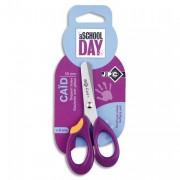 Blister ciseaux droitier 13cm pour enfant lame inox, bouts arrondi et gachette anti-glisse - JPC