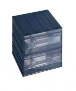 Bloc 2 tiroirs fixes - Dimensions extérieures : 208x222x208 mm