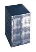 Bloc 8 tiroirs en polypropylène - Dimensions extérieures : 249x310x375 mm