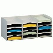 Bloc à cases fixes pour courrier - Dimensions (H x P) cm : 31,3 x 30,4