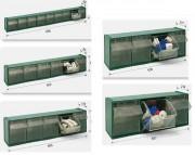 Bloc à tiroirs basculants amovibles - À 3, 4, 5, 6 ou 9 cases