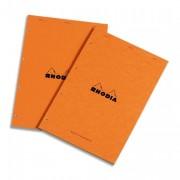 Bloc audit format 21x 32 80 grammes perforé jaune - Rhodia