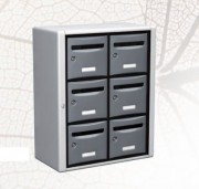 Bloc boîtes aux lettres en intérieur - Utilisation extérieure - norme NFD 27 404