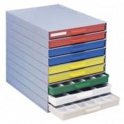 Bloc d'atelier à 9 tiroirs - Dimensions extérieures (L x l x H) mm : 365 x 266 x 310