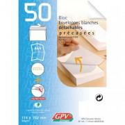 Bloc de 50 enveloppes post bloc 90 grammes format 110x220 mm - GPV