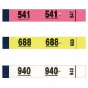 Bloc de 50 tickets vestiaire 3x20 cm blanc - Elve