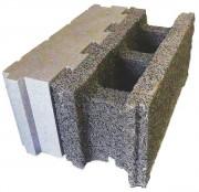Bloc de coffrage isolant en béton - Dimensions (L x l x h) : 500 x 220 x 250 ou 500 x 250 x 250 cm