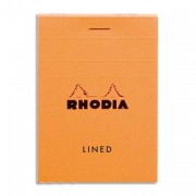 Bloc de direction A7 relié 80 feuilles Orange - Rhodia