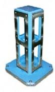 Bloc et cube à changement rapide avec plaques en aluminium - Quatre faces pour montage de 4 étaux