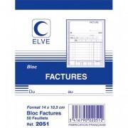 Bloc facture 50 feuillets simples 105x140 mm - Elve
