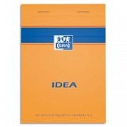 Bloc IDEA format 10,5 x 14,8 cm 80 grammes réglure 5x5 301204 - Idéa