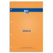 Bloc IDEA format 21x32 cm 80 grammes réglure 5x5 marge ligné perforé 302208 - Idéa