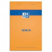 Bloc IDEA format 21x32 cm ligné jaune 80 grammes perforé 302318 - Idéa