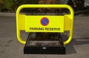 Bloc parking solaire avec télécommande - Dimensions (mm) : 700 x 520 x 700