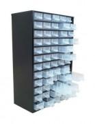 Bloc tiroir en acier - Dimensions extérieures (LxPxH) mm : 430 x 665 x 595