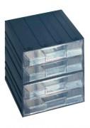 Bloc tiroirs de rangement fixe - Dimensions extérieures : 208x222x208 mm