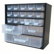 Bloc tiroirs en métal - Dimension extérieur L x P x H (mm) : de 306 x 155 x 290 à 306 x 155 x 560