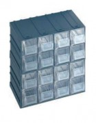 Bloc tiroirs en polypropylène - Dimensions extérieures : 208x132x208 mm