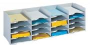 Blocs classeurs - Noir et Gris - Désignation : 20 cases - Dimensions extérieures (H x L x P) : 31.3 x 89.7 x 30.4 cm