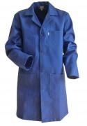 Blouse de travail bleu - 100% coton et Sanfor, 245g/m²