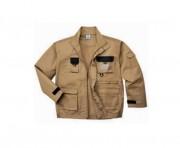 Blouson de protection beige - Tailles : S-M-L-XL-2XL-3XL- Matière :  60 % coton / 40% polyester