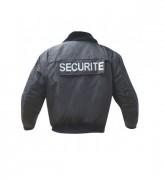 Blouson de sécurité à col fourré - Taille : S à XXL - Pour agent de sécurité