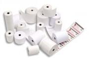 Bobine pour caisse enregistreuse papier blanc 55g 44x70x12mm, 1 pli thermique - Rolfax