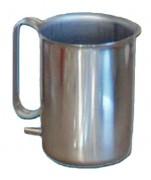 Bock à douche inox - Capacité : 1,7 Litres