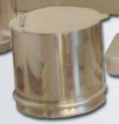 Boîte à coton inox - Capacité : 1 L - Dimensions:125 x 125 mm