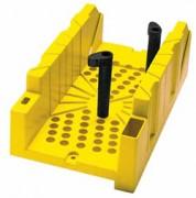 Boîte à coupe plastique avec cales - Dimension (L x l x H)  : 300 x 130 x 80 mm