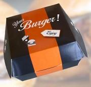 Boite a hamburger - Dimensions (L x l x h) : 100 x 100 x 80 mm
