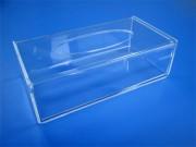 Boîte à mouchoirs plexi - Conditionnement : lot de 4 pièces - Fixable au mur ou posable