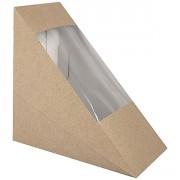 Boîte à sandwich triangle - Dimensions (L x l x h) : 123 x 123 x 72 mm
