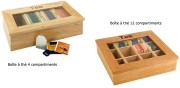 Boîte à thé - 2 modèles au choix: 4 ou 12 compartiments