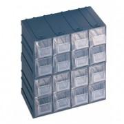 Boîte à tiroirs en plastique - Dimensions extérieures (L x l x H) mm : de 208 x 132 x 208 à  249 x 310 x 375