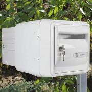 Boîte aux lettres individuelle à 2 portes - La porte avant est disponible en beige et en vert