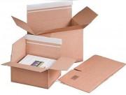 Boîte d'expédition fond automatique - Patte auto-adhésive avec bande protectrice