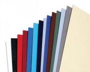 Boîte de 100 Couvertures Grain Cuir 250g/m Bleu CE040020 - Gbc