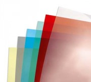 Boîte de 100 Couvertures transparentes 180µ bleu CE011820E - Gbc