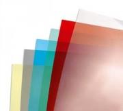 Boîte de 100 Couvertures transparentes 180µ jaune CE11860E - Gbc