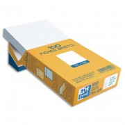 Boîte de 100 fiches bristol 148x210 mm 5x5 blanc 236020 - oxford
