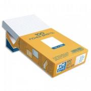 Boîte de 100 fiches bristol 75x125 mm 5x5 blanc 232020 - oxford
