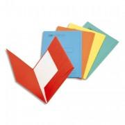 Boîte de 100 sous-dossiers 160g à 2 rabats rouge Scor, pour dossiers armoire et tiroir - Esselte