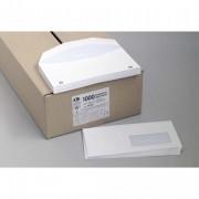 Boîte de 1000 enveloppes velin blanc insertion mécanique 80g, 114x229mm fenêtre 35x100mm NF - La Couronne
