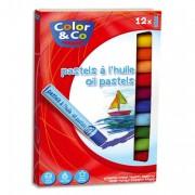 Boîte de 12 pastels à l'huile COLOR & CO - Color&Co