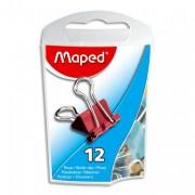 Boite de 12 pinces clip largeur 15mm coloris assortis - Maped